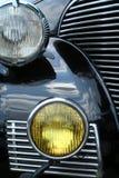 фары античного автомобиля Стоковая Фотография RF