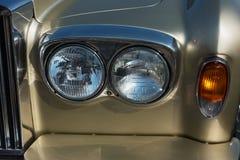 Фары старого автомобиля Стоковая Фотография RF