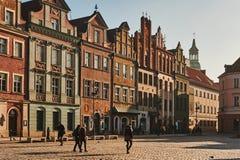 Фасады зданий старого города Стоковая Фотография RF