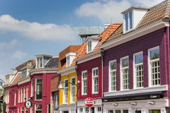 Фасады красочных зданий в Leeuwarden Стоковые Изображения RF