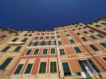 Фасады Camogli стоковое изображение rf