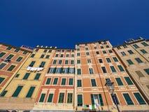 Фасады Camogli стоковые изображения