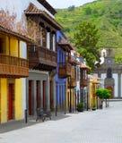 Фасады Gran Canaria Teror цветастые стоковое фото rf