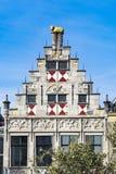 Фасад библиотеки Dordrecht, Нидерланд стоковое фото rf