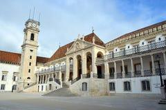 Фасад главного здания Coimbra стоковая фотография