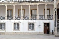 Фасад главного здания Coimbra стоковая фотография rf