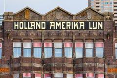 Фасад гостиницы Нью-Йорка в Роттердаме Стоковые Фотографии RF