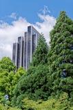 Фасад гостиницы Radisson голубой против пасмурного голубого неба Германия hamburg стоковые изображения