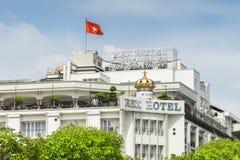 Фасад гостиницы Rex, Хошимин, Вьетнам Стоковая Фотография RF