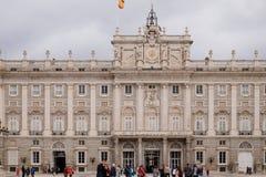 Фасад дворца Мадрида королевского Мадрид, Испания стоковые изображения rf