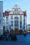 Фасад дома Орландо, Мюнхена, Баварии стоковая фотография rf