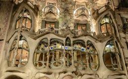 Фасад дома Battlo в Барселоне, Каталонии, Испании стоковые фотографии rf