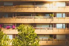 Фасад здания красного кирпича в центре Валенсии Стоковая Фотография RF