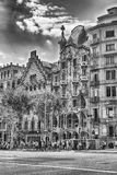 Фасад Касы Batllo и Касы Amatller, Барселоны, Каталонии, s Стоковая Фотография