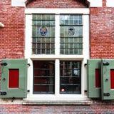 Фасад кирпича дома в Голландии Стоковые Фото