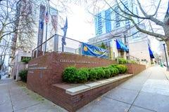 Фасад музея исторического общества Орегона, блоков южного парка, p стоковая фотография rf