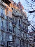 Фасад ПОСТРОЕНИЯ Гранад-Испании стоковое изображение
