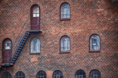 Фасад промышленного здания в Копенгагене Стоковые Фото