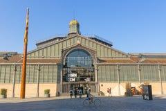 Фасад рынка с понижательной тенденцией, девятнадцатый век Готический квартал ба Стоковая Фотография