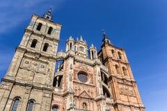 Фасад собора в Astorga стоковая фотография