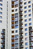 Фасад современного жилого дома в Москве, России Стоковая Фотография RF