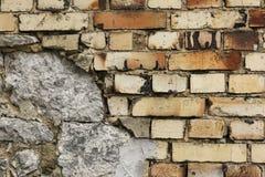 Фасад старого дома кирпича подробно Стоковые Фотографии RF