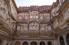 Фасад форта Mehrangarh стоковые изображения rf