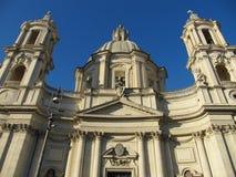 Фасад церков в Риме стоковые изображения