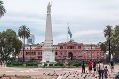 Фасад Аргентина Rosada Касы Plaza de Mayo Стоковые Фотографии RF
