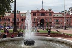 Фасад Аргентина Rosada Касы Plaza de Mayo Стоковые Изображения
