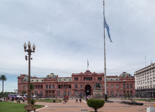 Фасад Аргентина Rosada Касы Plaza de Mayo Стоковое фото RF