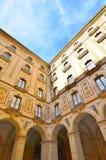 Фасад базилики в бенедиктинском аббатстве Montserra Стоковая Фотография