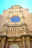 Фасад базилики Монтсеррата Стоковые Фото