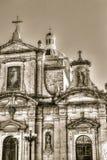 Фасад барочных церков, грота и приходской церкви St Paul Стоковое Изображение