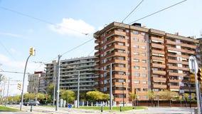 Фасад блока квартир в Collblanc Стоковая Фотография
