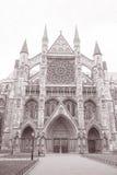 Фасад Вестминстерского Аббатства, Вестминстер, Лондон Стоковая Фотография
