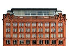 Фасад винтажной архитектуры классический красного кирпича Стоковые Изображения RF