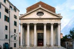 Фасад виска церков на Венеции. стоковые фото
