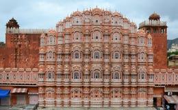 Фасад дворца ветра в Джайпуре, Индии Стоковые Изображения