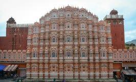 Фасад дворца ветра в Джайпуре, Индии Стоковые Фото