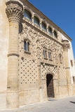 Фасад дворца Jabalquinto главный, Baeza, Испания Стоковое фото RF