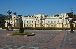 Фасад дворца Mariinsky в Киев Стоковое Изображение RF