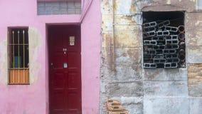 Фасад 4 Гаваны, Кубы стоковое изображение