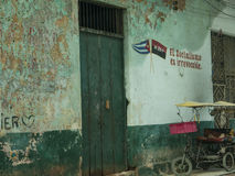 Фасад 6 Гаваны, Кубы стоковая фотография