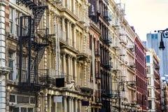 Фасад жилого дома NYC Стоковое фото RF