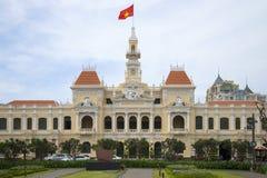 Фасад здание муниципалитета в Хошимине Вьетнам Стоковые Фото