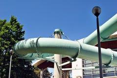 Фасад здания бассейна стоковое фото rf