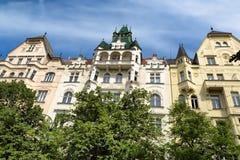 Фасад здания в Праге Стоковые Фотографии RF