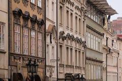 Фасад здания в старой Праге Стоковая Фотография RF