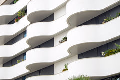 Фасад здания с балконами Стоковые Фото